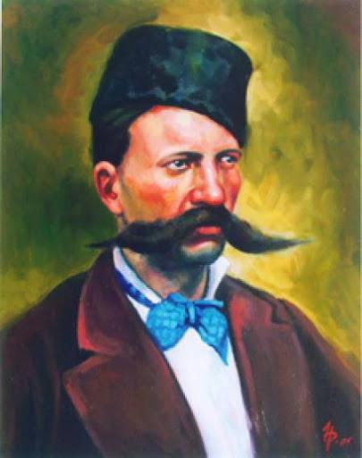 Портрет на Крайчо Самоходов от художника д-р Николай Радулов